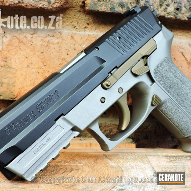 Sig SP2022 Handgun in a Custom Cerakote Finish