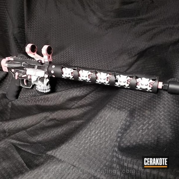 Cerakoted Tactical Rifle In A Battleworn Cerakote Finish
