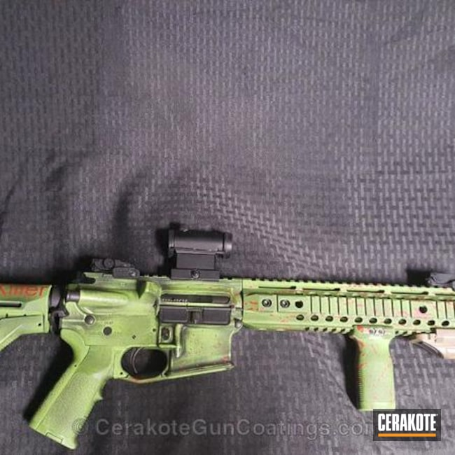 Cerakote Zombie Killer themed Tactical Rifle
