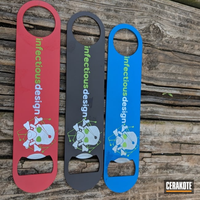 Cerakoted Bottle Openers with a Custom Logo