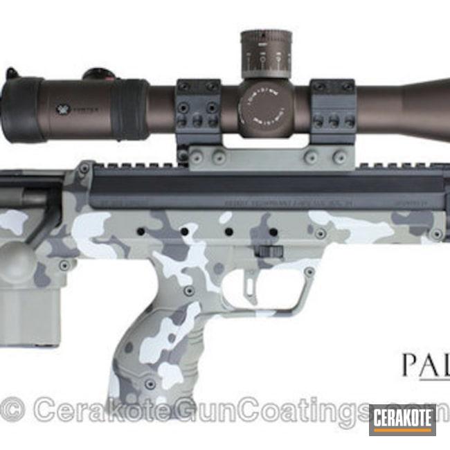Cerakoted: Bolt Action Rifle,Sniper Grey H-234,Flecktarn,Bullpup,Graphite Black H-146,Desert Tech,BATTLESHIP GREY H-213,Danish Camo