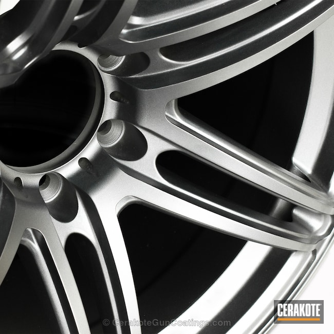 Cerakoted Clear Coated Aluminum Wheel