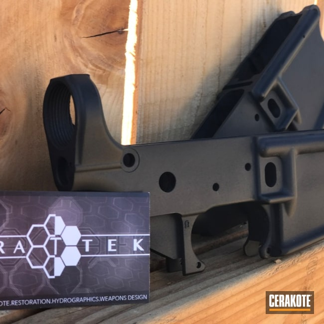 AR-15 Lower Receiver coated in H-190 Armor Black