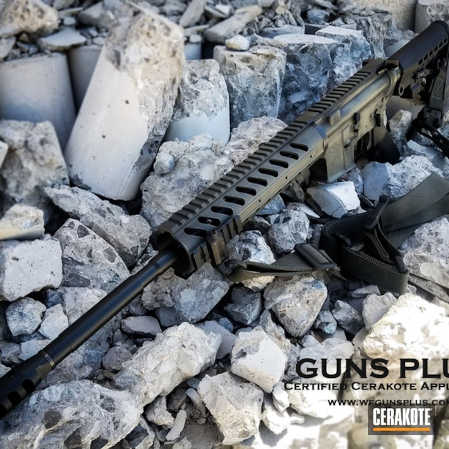 Tactical Rifle in H-146 Graphite Black and H-231 MagPul Foliage Green