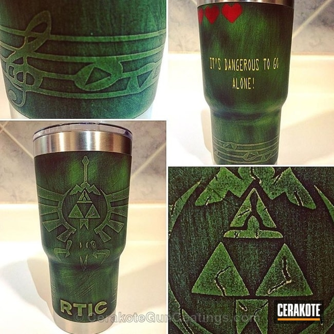 Video Game Themed Cup in a Custom Cerakote Finish
