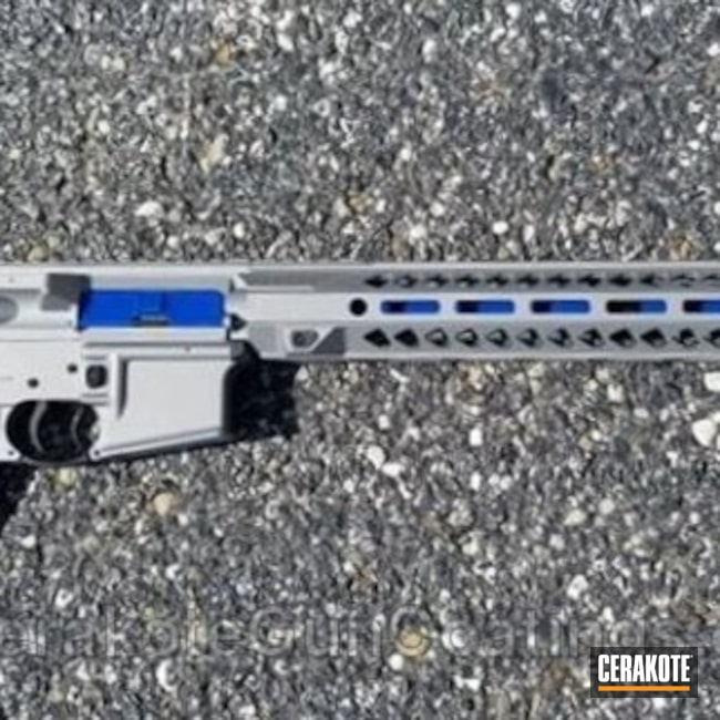 Salvaged Bushmaster Rifle in H-170 Titanium and C-158 Blue Flame