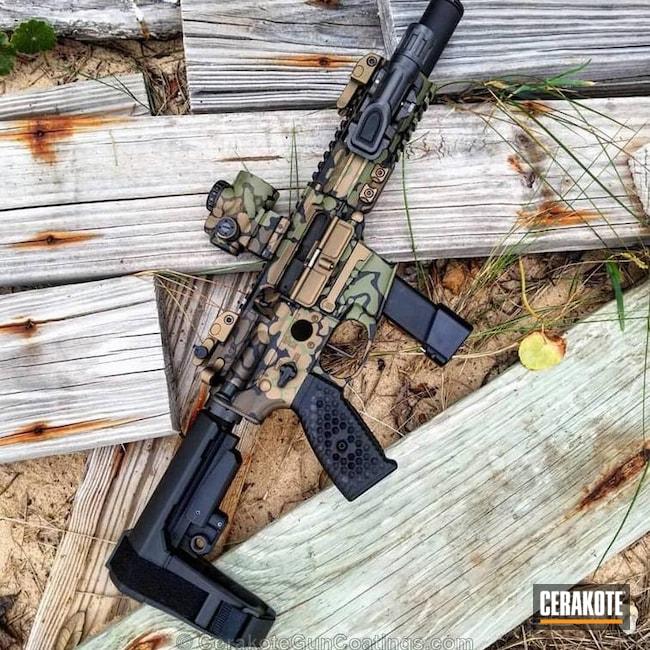 Cerakoted: Flecktarn,Graphite Black H-146,Burnt Bronze H-148,Tactical Rifle,SBR,Noveske Bazooka Green H-189,Chocolate Brown H-258