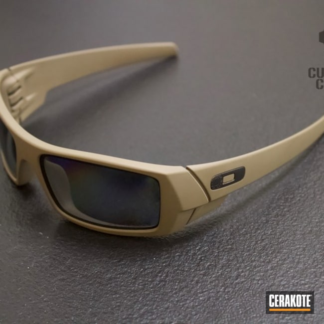 Oakley Sunglasses coated in H-267 MagPul Flat Dark Earth