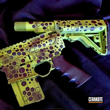 Cerakoted Tactical Rifle Coated In A Custom Cerakote Camo Finish