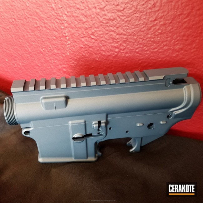 "Thumbnail image for project ""Upper / Lower Receiver coated in H-185 Blue Titanium"""