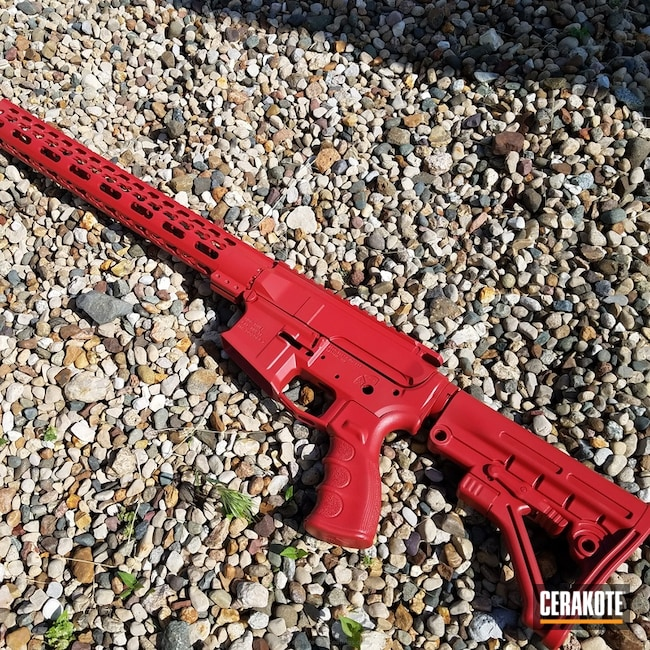 Smaller version of the 2nd project picture. Aero Precision, AR-15, Handguard, Smith & Wesson Red H-216, Tactical Rifle, Upper Lower