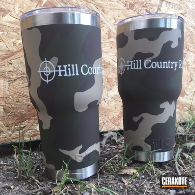 "Thumbnail image for project ""Custom Tumbler Cups in a MultiCam Cerakote Finish"""