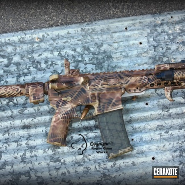 Big version of the 1st project picture. Custom Camo, Tactical, AR-15, Freehand Camo, Urban, Stencil, Urban Camo, Tactical Rifle, Custom Pattern, Graphics, Armor Black H-190Q, Desert Sand H-199Q, Barrett Bronze H-259Q, Weapon Light, Custom Graphic, Coyote Tan H-235Q, AR Pistol, Urban Multicam, Custom Design, Glock FDE H-261Q, Custom Stenciling, Free Hand