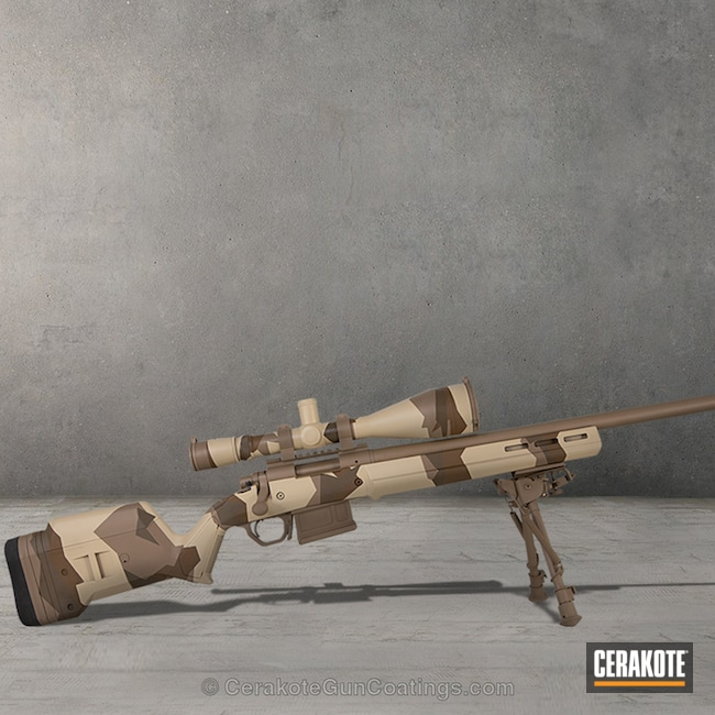 Bolt Action Rifle in a Cerakote MultiCam Finish