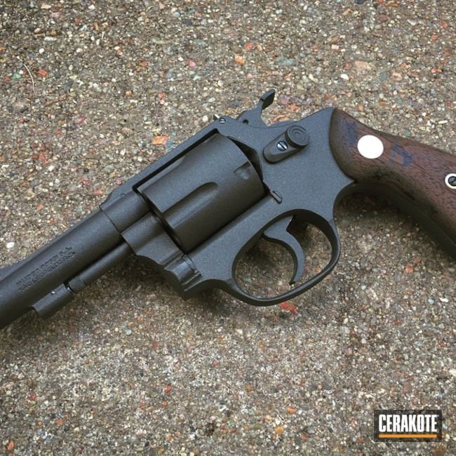 Revolver refinished in a Cerakote H-190 Armor Black