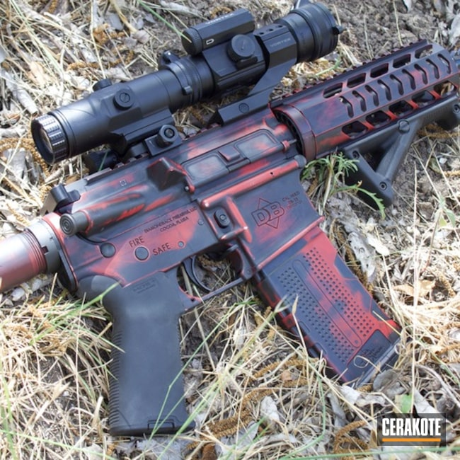 AR Pistol with Graphite Black and Smith & Wesson Red