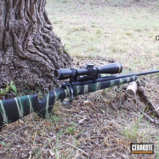 Bolt Action Rifle with Tiger Stripe Camo