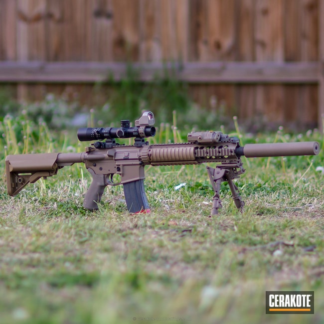 MagPul FDE on a Tactical Rifle