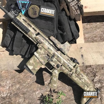 Cerakoted Fnh Scar With Custom Cerakote Camo