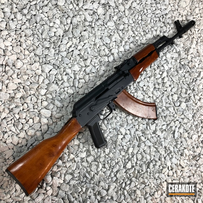 "Thumbnail image for project ""Restored AK-47 Rifle coated in Cerakote H-190 Armor Black"""