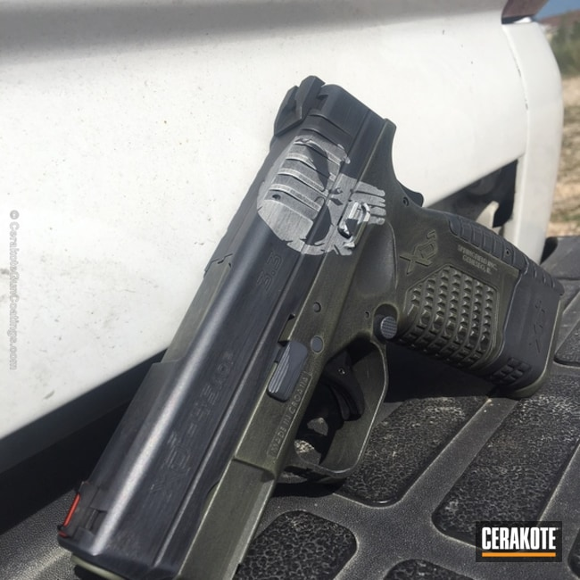 "Thumbnail image for project ""Springfield XD Handgun in a Distressed Cerakote Finish"""