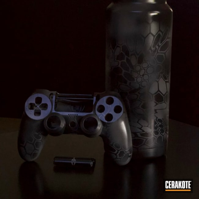 "Thumbnail image for project ""Custom PS4 Controller and Water Bottle in a Cerakote Dark Kryptek Finish"""