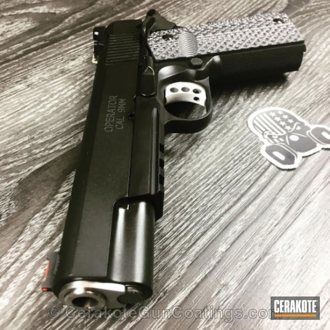 Mobile-friendly version of the 1st project picture. Graphite Black H-146Q, Springfield, 1911, Pistol, 9mm, Springfield Champion Operator .45, Springfield 1911