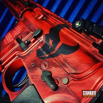 Cerakoted H-216 Smith & Wesson Red And H-146 Graphite Black