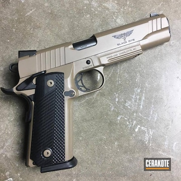 Cerakoted Para-ordnance 1911 Finished In E-170 And H-146