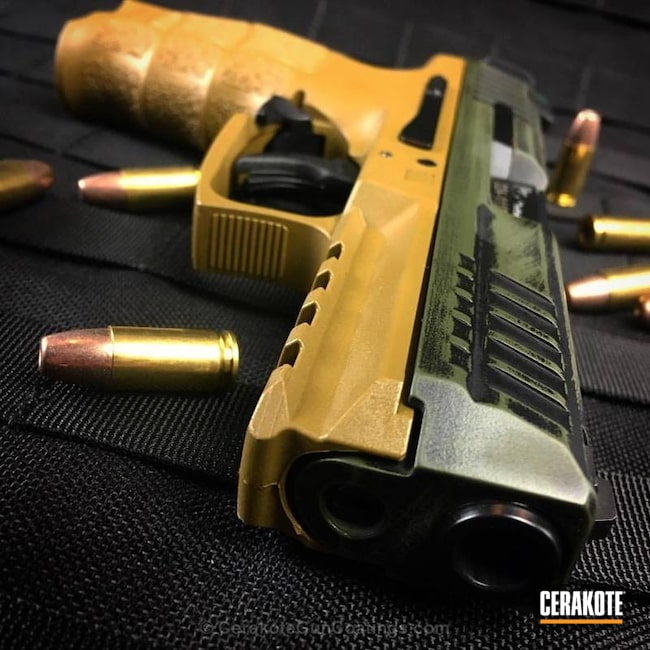"Thumbnail image for project ""HKVP9 Handgun coated in H-146 and H-189"""