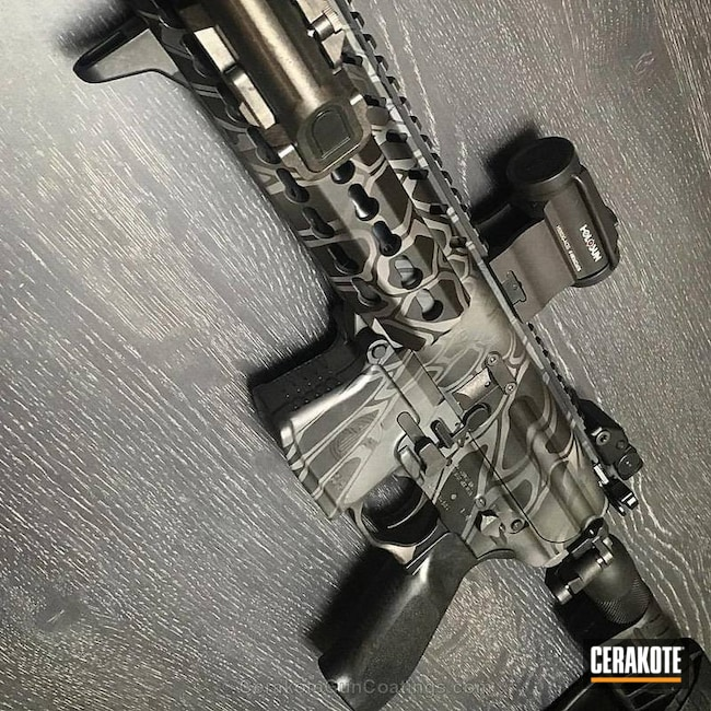 "Thumbnail image for project ""Sig Sauer AR-15 Cerakoted in a Typhon Kryptek Finish"""