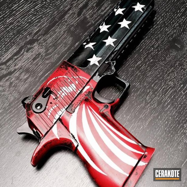 "Thumbnail image for project ""Desert Eagle Handgun coated in an American Flag Cerakote Finish"""