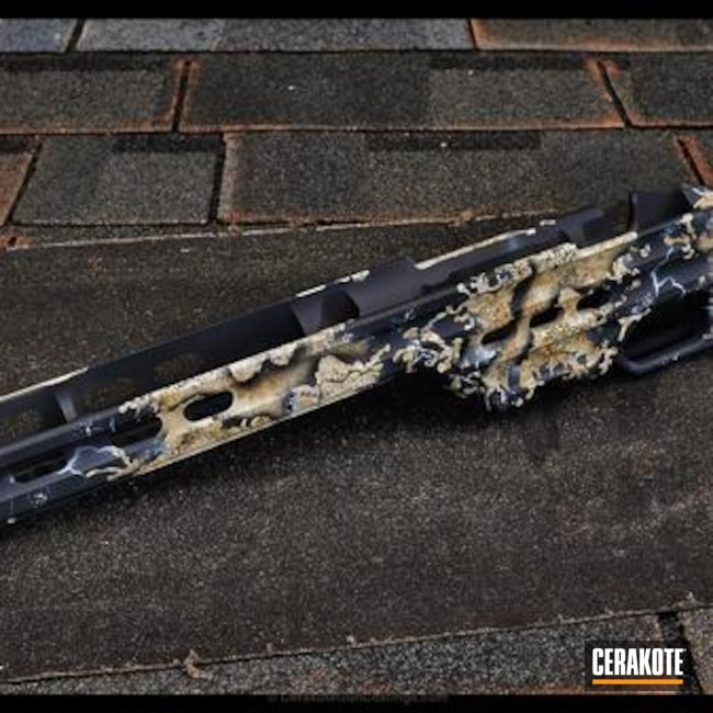 "Thumbnail image for project ""Rifle Stock in a Custom Mixed Organic Camo Finish"""