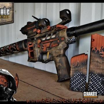 Cerakoted Tactical Rifle In A Custom Organic Wood Cerakote Finish