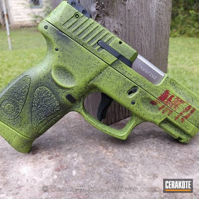 H-146 Graphite Black, H-168 Zombie Green and H-216 Smith & Wesson Red