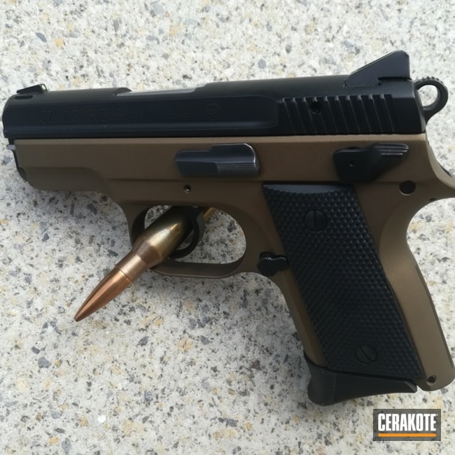 "Thumbnail image for project ""CZ-75 Handgun coated in H-148 Burnt Bronze"""