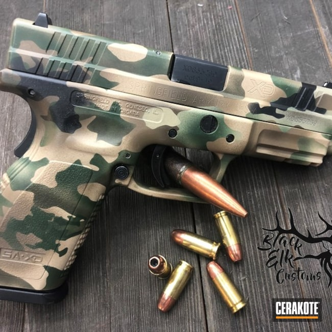 "Thumbnail image for project ""Springfield XD Handgun in a Cerakote MultiCam Finish"""