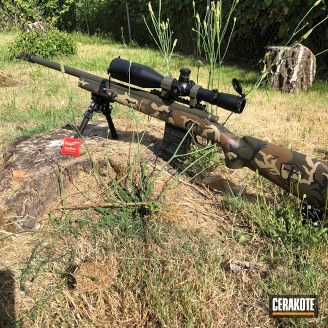 "Thumbnail image for project ""Remington 700 Rifle Cerakoted in a Custom Woodland MultiCam Finish"""