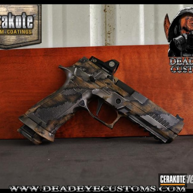 "Thumbnail image for project ""Sig Sauer Handgun Cerakoted in a Custom Mix and Custom Design"""