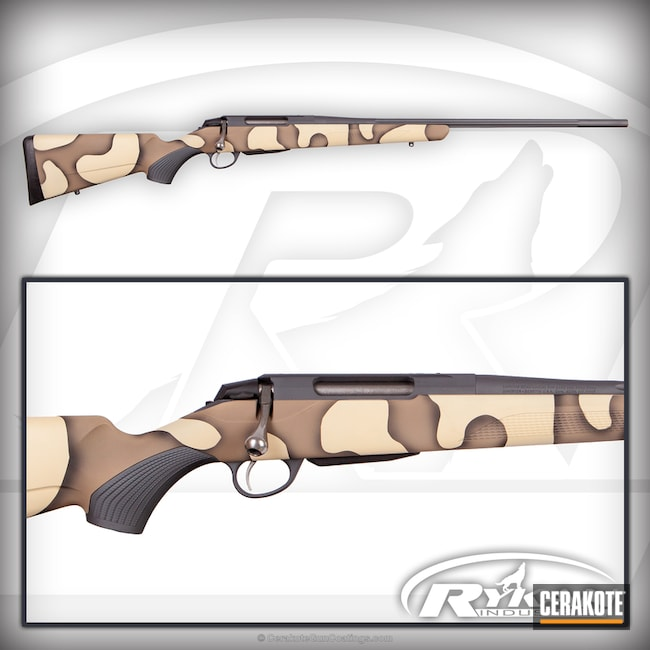 Bolt Action Rifle in a Custom Camo Finish