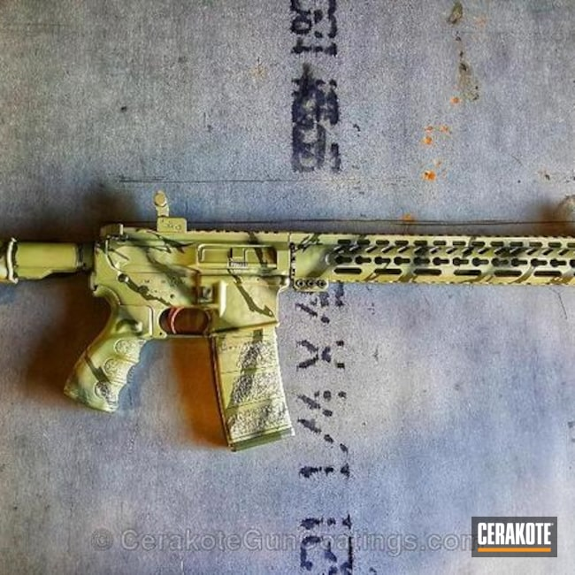 Custom Rifle in a Ripped Camo Finish