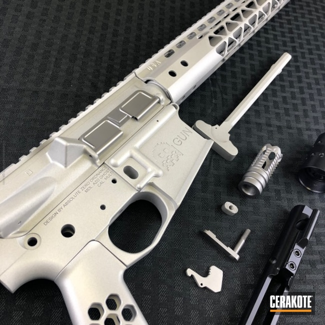 Mobile-friendly version of the 3rd project picture. Clear Coat, Tactical Rifle, Cerakote Clear - Aluminum MC-5100Q