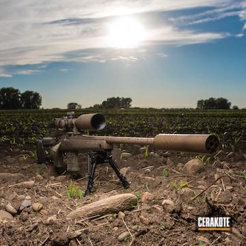 Cerakoted 6.5 Creedmoor Hunting Rifle In A Custom Camo Finish