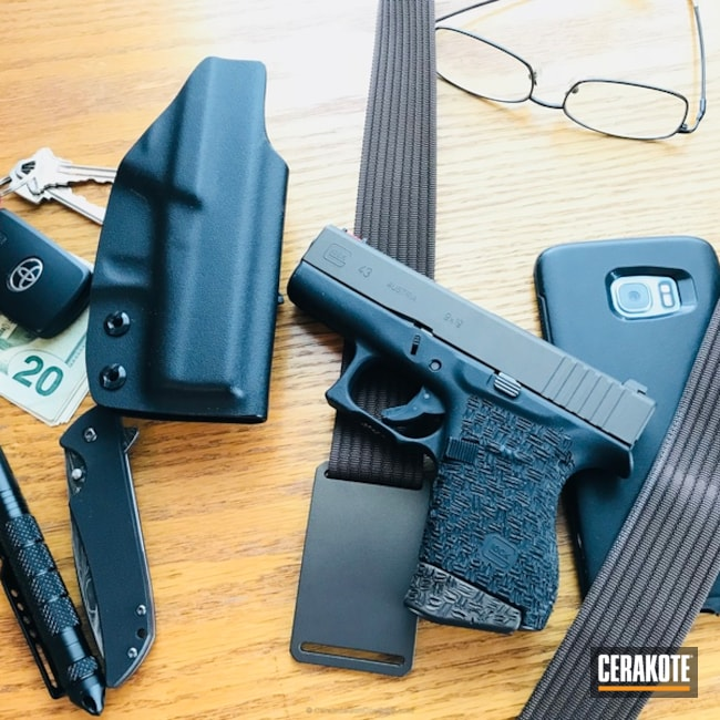 "Thumbnail image for project ""Glock 43 Slide coated in H-294 Midnight Bronze"""