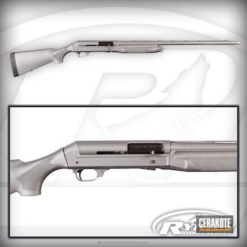 Cerakoted Benelli Shotgun Cerakoted In H-170 Titanium And H-237 Tungsten