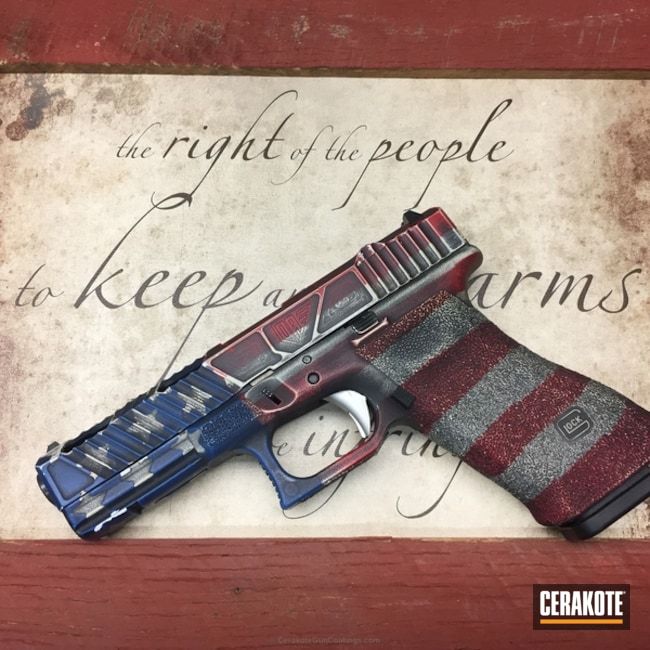 "Thumbnail image for project ""Custom Glock Cerakote in an American Flag Finish"""