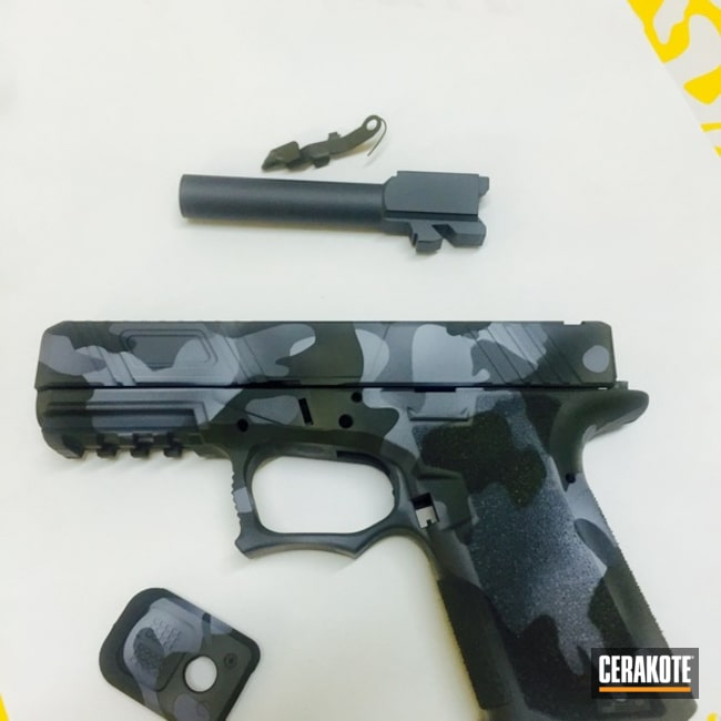 Handgun Cerakoted in a Custom MultiCam Finish
