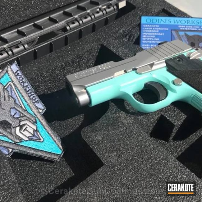 Thumbnail version of the 6th project picture. Sig Sauer, .380, Pistol, Sig Sauer P238, Robin's Egg Blue H-175Q, .380 ACP, Tiffany & Co
