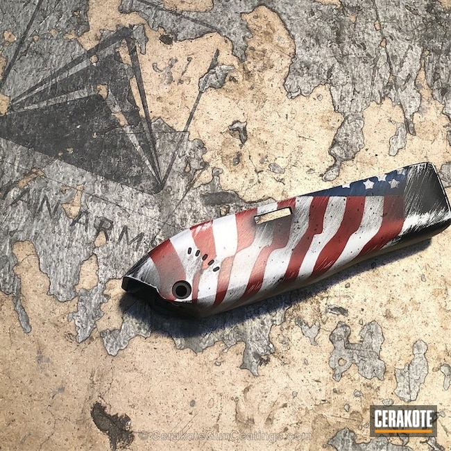 Barber's Clippers in a Distressed American Flag Finish