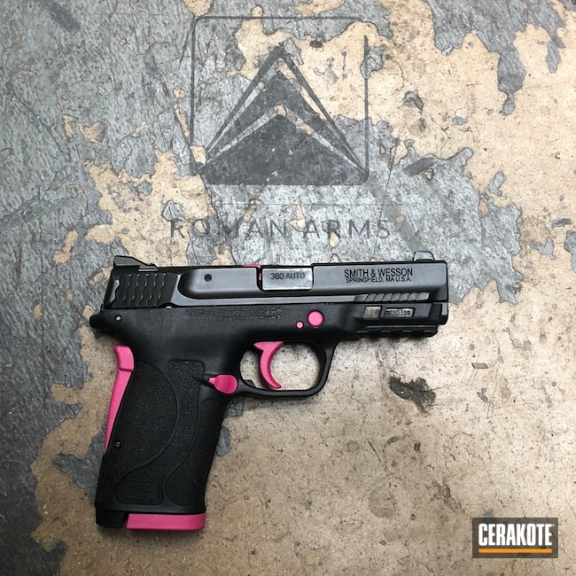 Smith & Wesson M&P 380 with Cerakote H-224 Sig Pink Accents
